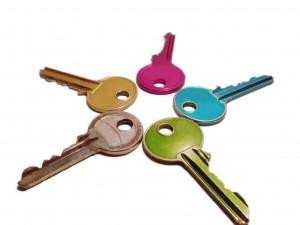 coloured keys